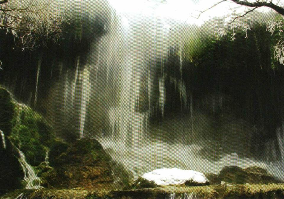 آبشار آسیاب خرابه در زمستان (عکس از مجید فرهمندی)