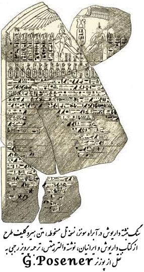 سنگنبشته داریوش در آبراه سوئز
