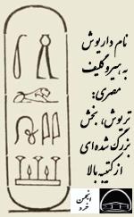 نام داریوش به هیروگلیف مصری