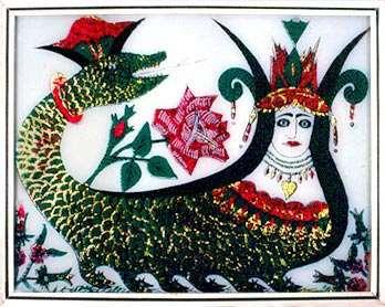 نقاشی از شاه ماران از کردستان