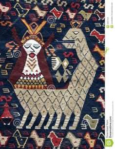 نقش شاه ماران بر روی گلیم سبک آذری