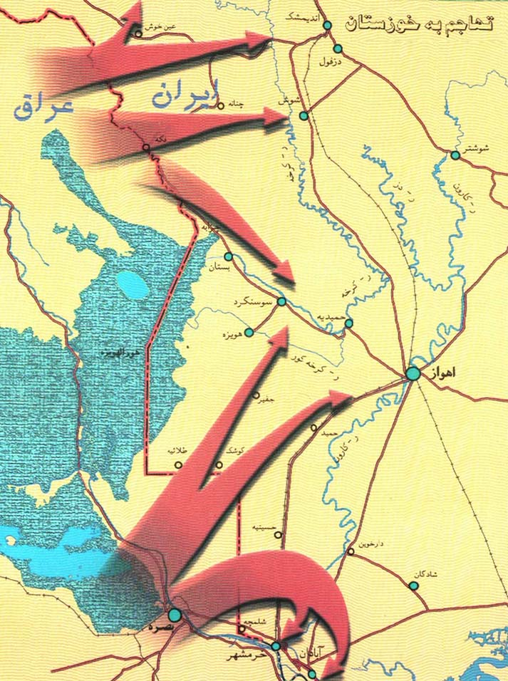 نقشه تهاجم عراق بعثی به خوزستان