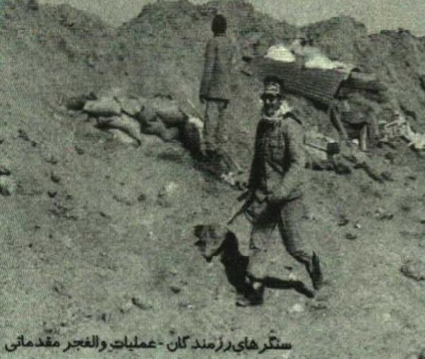 سنگرهای رزمندگان در عملیات والفجر مقدماتی