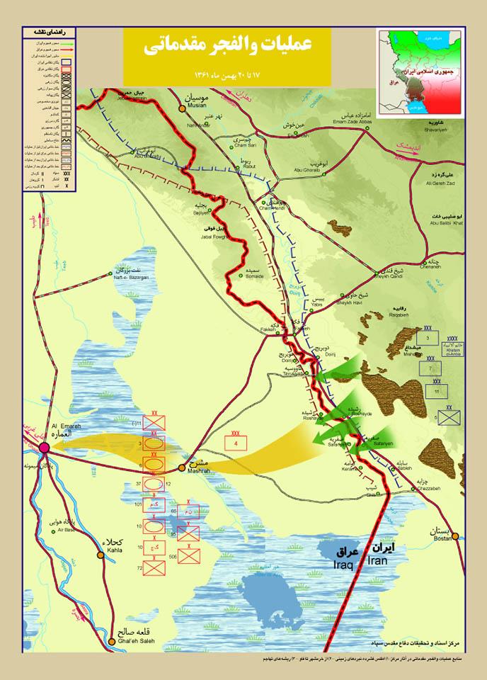 نقشه عملیات والفجر مقدماتی