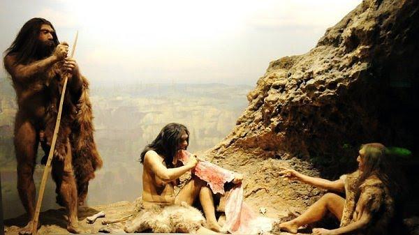 تصویر 3- تصویر فرضی از زندگی مردم عصر پارینه سنگی