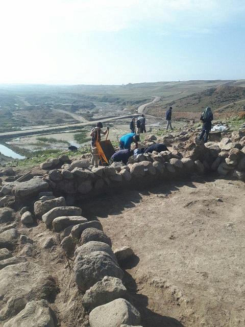 نخستین فصل از کاوشهای باستان شناسی در قیزیل قلعه مشگین شهر