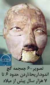 تصویر6- جمجمه گچاندود،اریحا،اردن حدود 6 تا 7 هزار سال پیش از میلاد