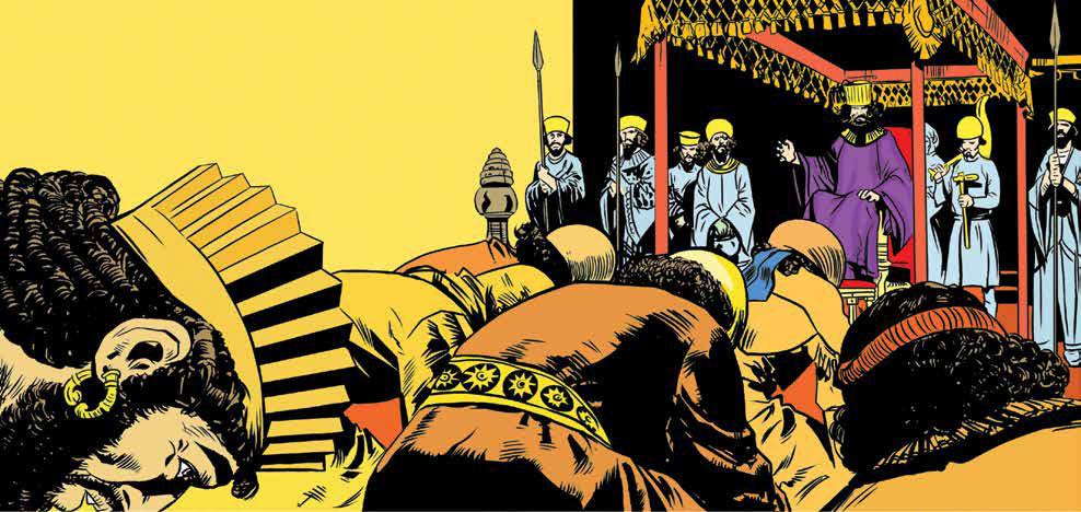 داريوش و شورشهاي پيدرپي؛ داريوش در مرحله اول از حكمرانياش، به سركوب شورشها پرداخت.