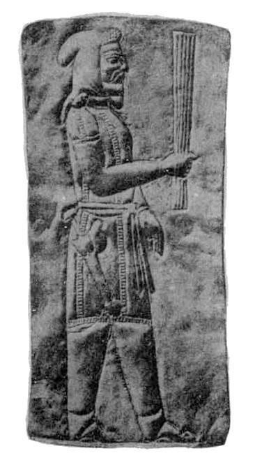 تصویری از گنجینه جیحون که شکل جامه و ظاهر یک ماساژت را نشان میدهد.