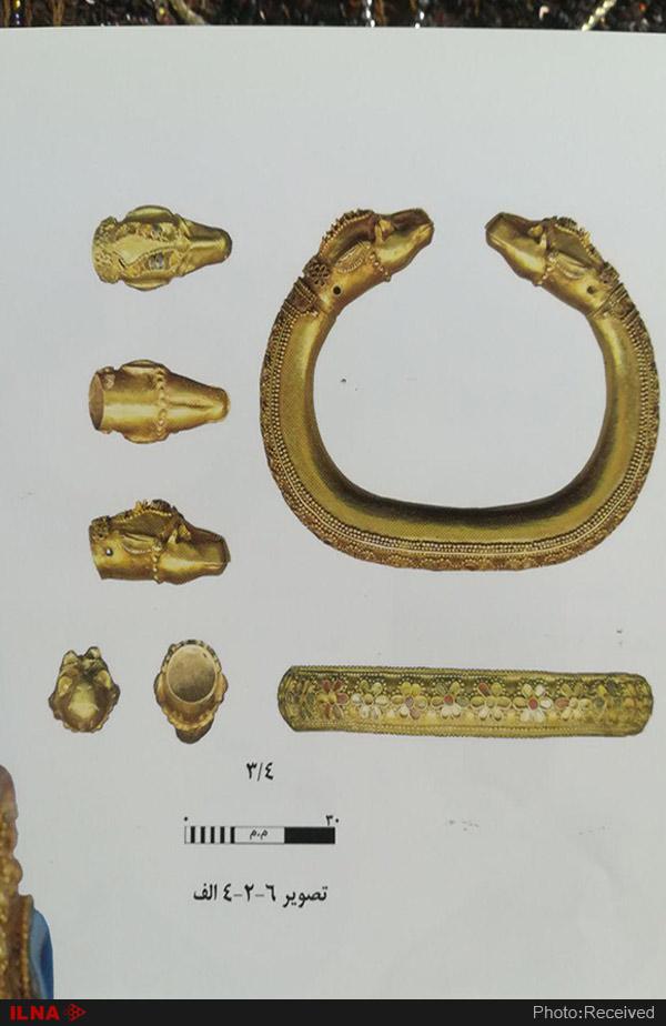 دستبند یافت شده از مقبره دو زن ایلامی