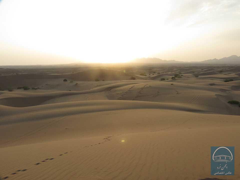 طلوع آفتاب کویر مصر