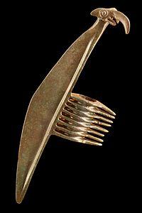 ناچخ با سر قوچ، اواخر هزاره دوم و اوایل هزاره اول قبل از میلاد، املش، ایران، موزه هنرهای زیبای لیون
