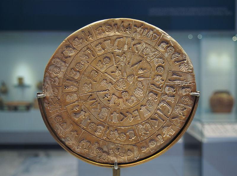 دیسک فایستوس- در 1908 در کرت یافت شده است.