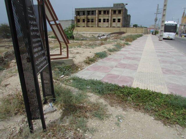 مدرسه در حال ساخت در عرصه مسجد جامع تاریخی سیراف