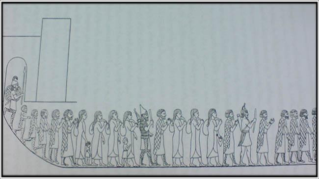 کوچاندن مادها به عنف- از نقش برجسته آشوری در نینوا