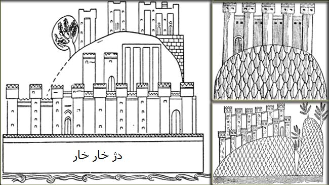 نقوش دژهای مادی بر دیواره های کاخ سارگن دوم در دور شارکین (خرصآباد)