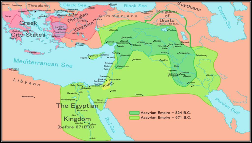 نقشه امپراتوری آشور
